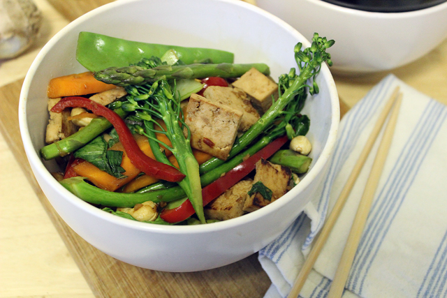 Tofu & Ginger Stirfry