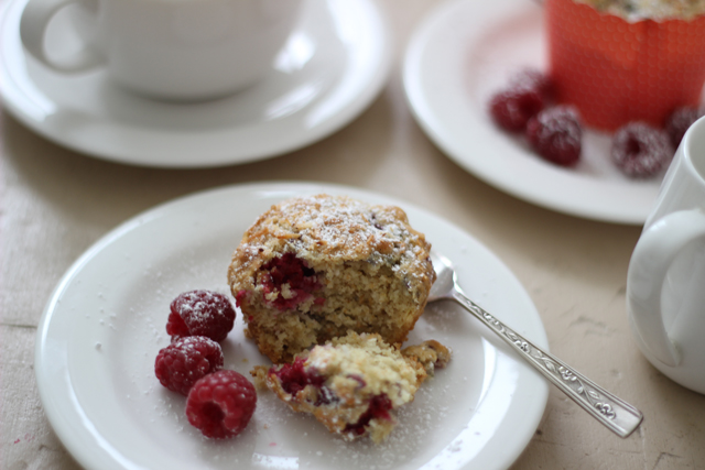 Rasberry & Coconut Muffins