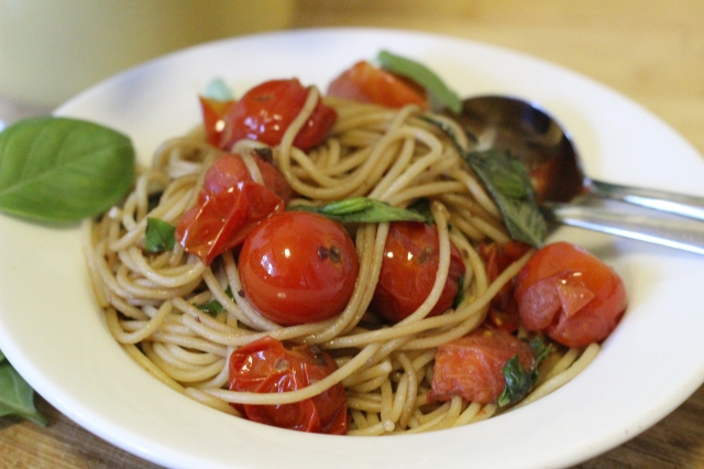 Squashed Cherry Tomato Spaghetti